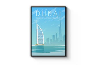 Retro Dubai Wall Art