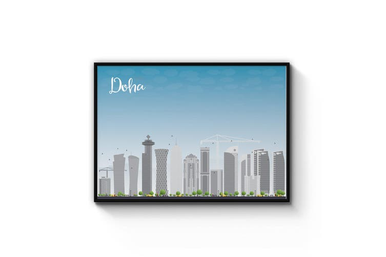 Doha Cityscape Wall Art