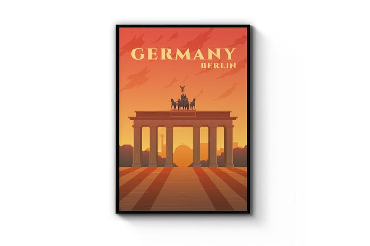 Retro Berlin Germany Travel Vintage Wall Art