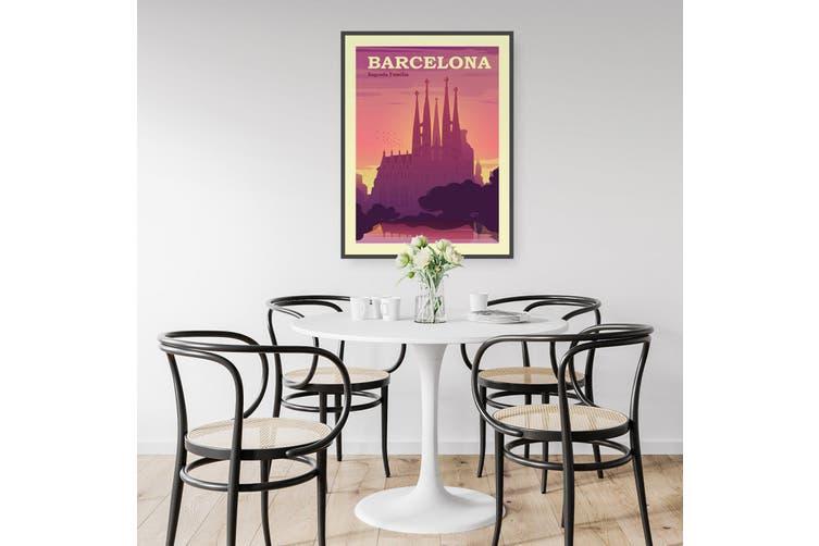 Retro Barcelona Wall Art