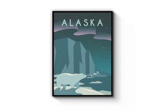 Retro Alaska Wall Art