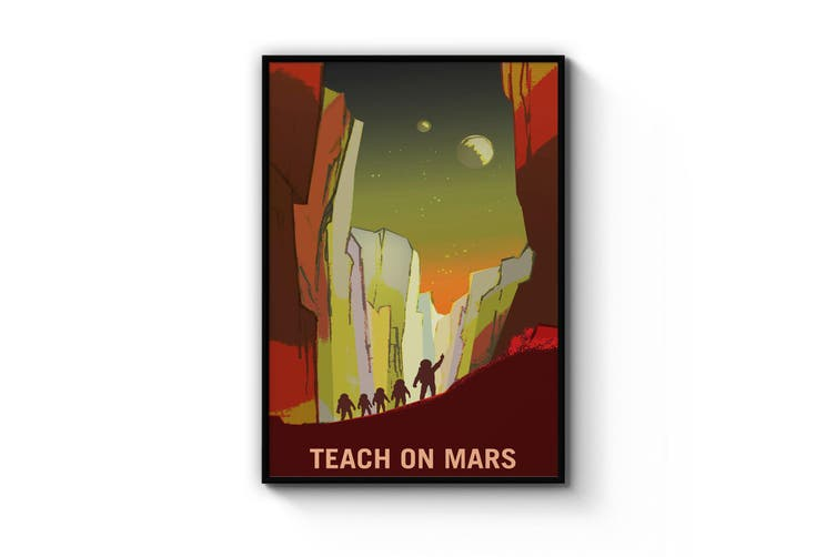 Retro Mars Wall Art