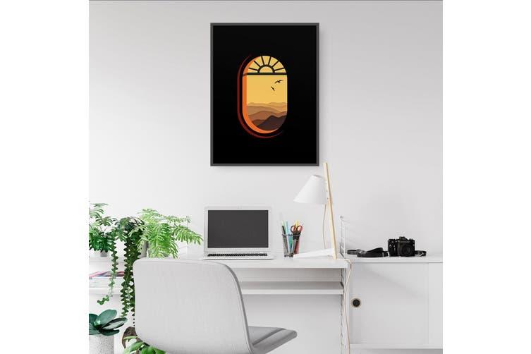 Retro Morning Window Wall Art