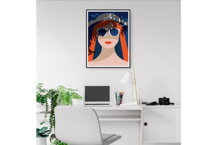 Retro Summer Girl Wall Art