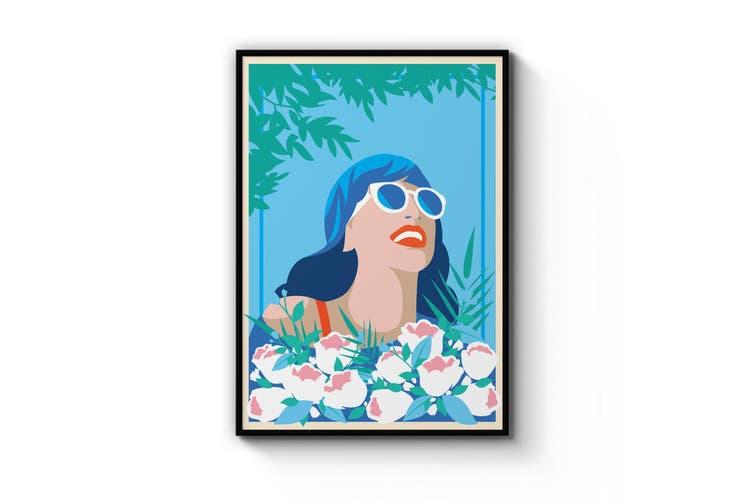 Retro Summer Girl Wall Art