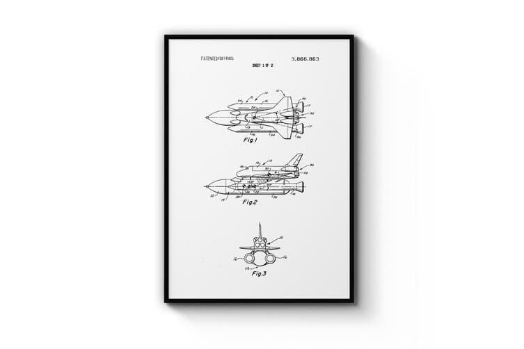 Space Shuttle Patent Wall Art