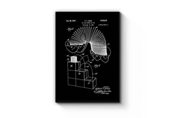 Slinky Toy Patent Wall Art