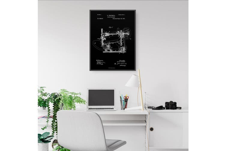 Sewing Machine Patent Wall Art