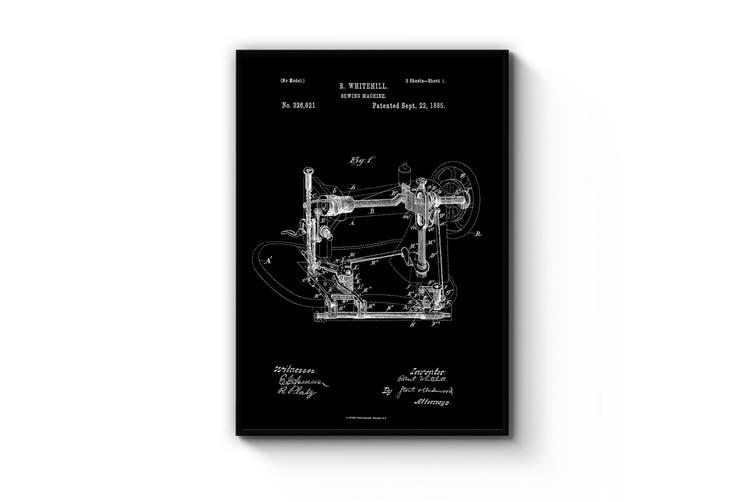 Vintage Sewing Machine Patent Wall Art