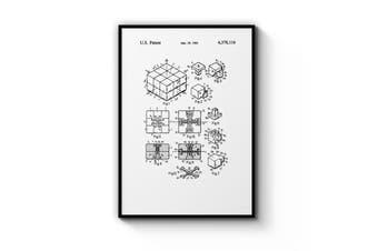 Rubik's Cube Patent Wall Art
