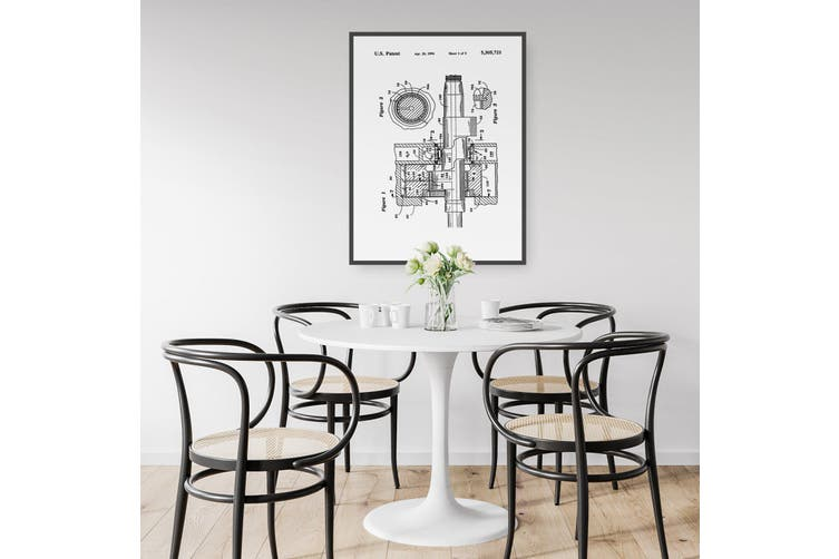 Rotary Engine Patent Wall Art