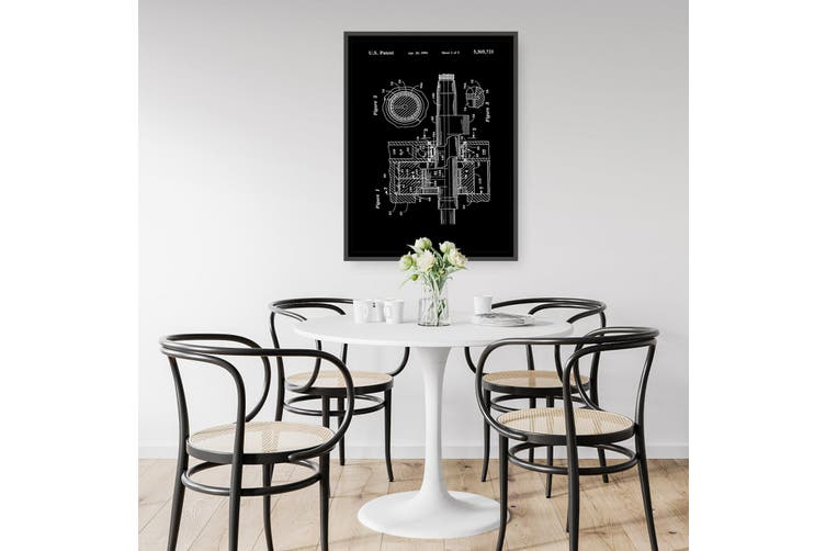 Vintage Rotary Engine Patent Engineering Wall Art