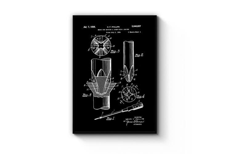 Phillips Screwdriver Patent Wall Art