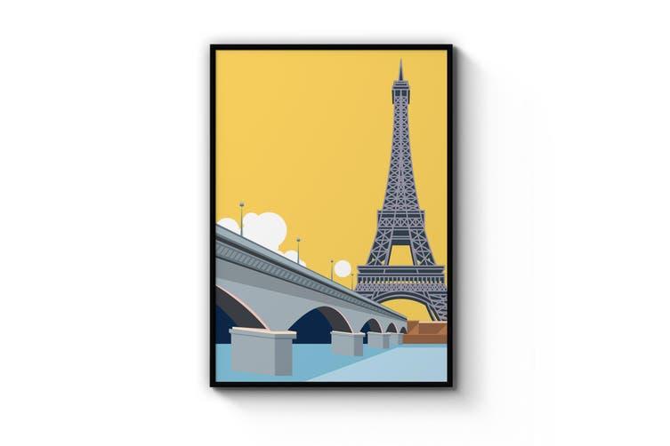 Retro Eiffel Tower, Paris Wall Art
