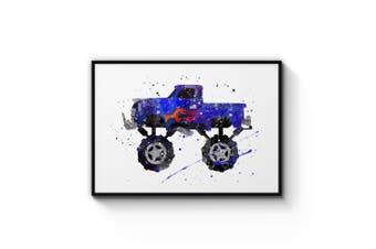 Monster Truck Cartoon Wall Art