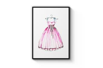 Pink Ballet Dress Wall Art