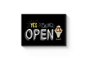 We Are Open Sign Wall Art