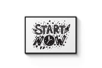 """Start Now"" Quote Wall Art"