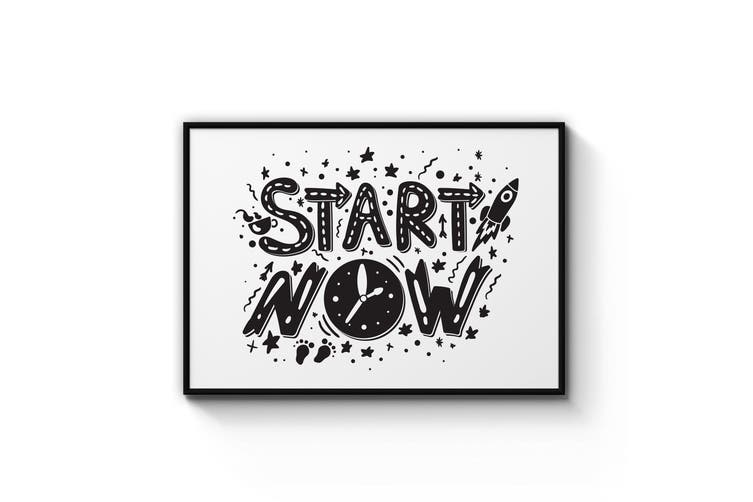 """""""Start Now"""" Quote Wall Art"""