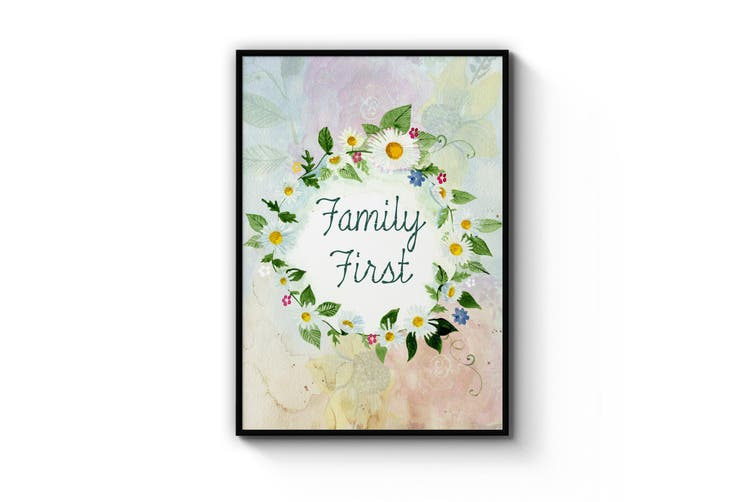 Family First Wall Art