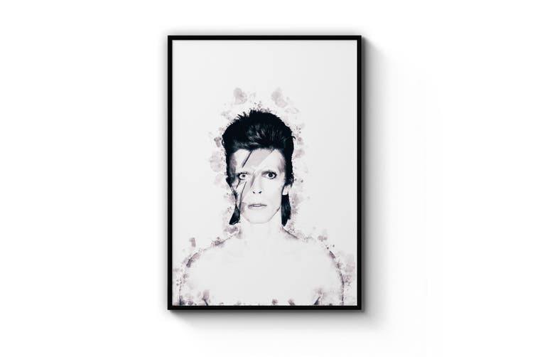 David Bowie Ink Painting Wall Art