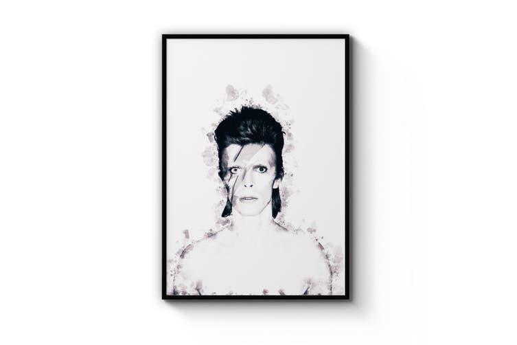 David Bowie Ink Painting Ziggy Stardust Wall Art