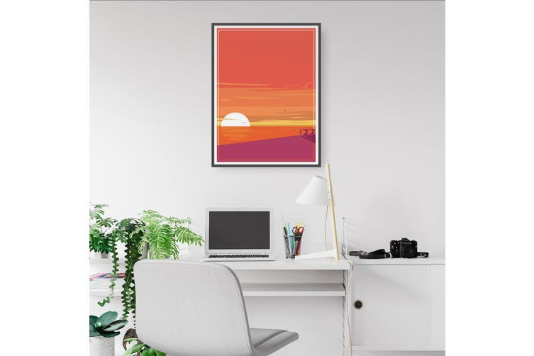 Retro Sunrise Wall Art