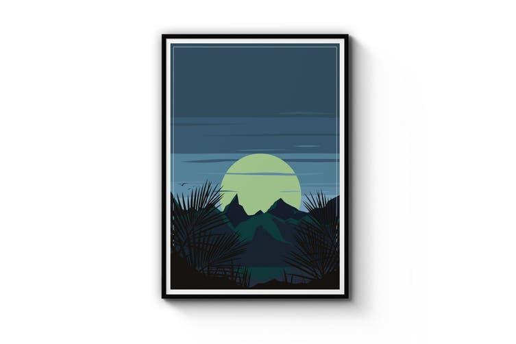 Retro Moonrise Wall Art