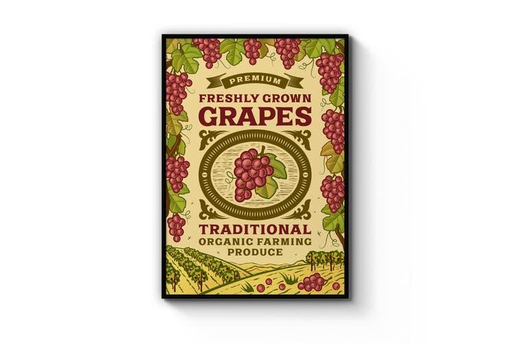 Grapes Farmhouse Wall Art