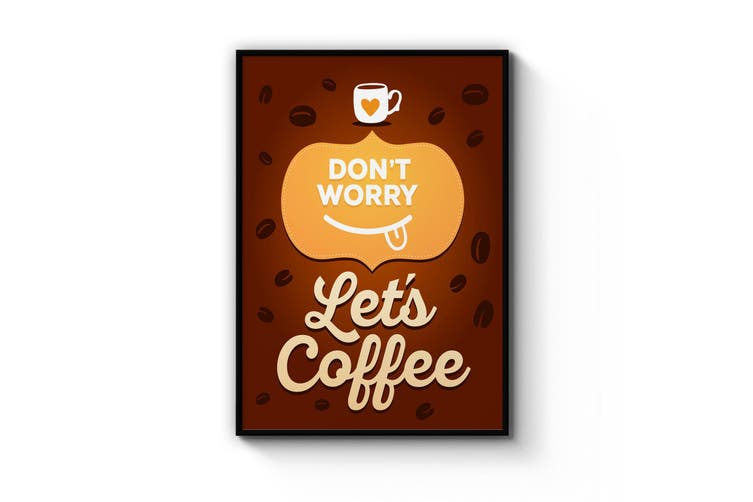 Coffee Quote Kitchen Cafe Style Morning Wall Art