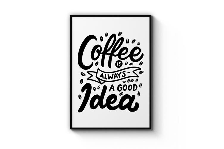 Coffee Quote Minimal Kitchen Cafe Style Wall Art