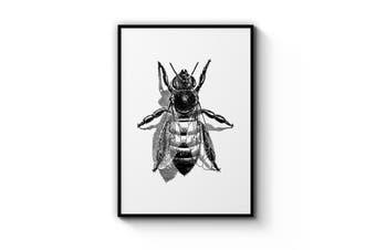 Worker Bee Drawing Wall Art