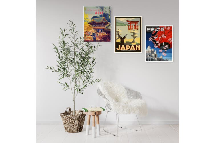 Set of Vintage Japanese Wall Art