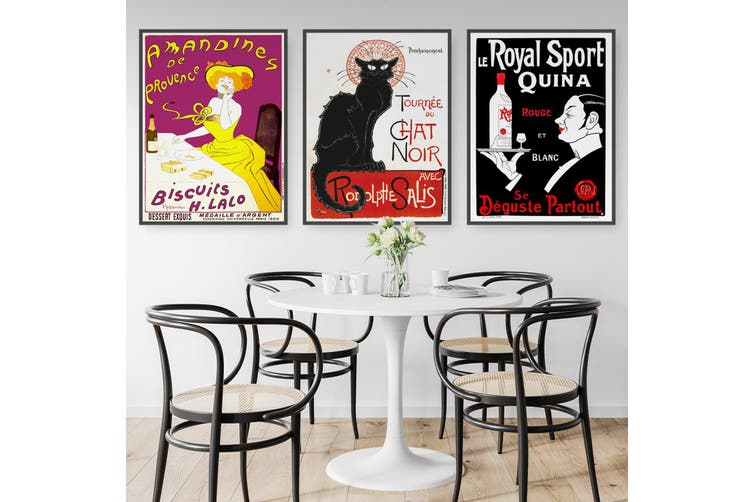 Set of French Cafe Wall Art