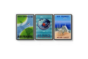 Set of Vintage Air France Wall Art