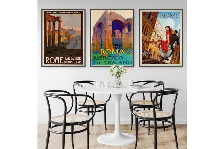 Set of Vintage Rome Wall Art