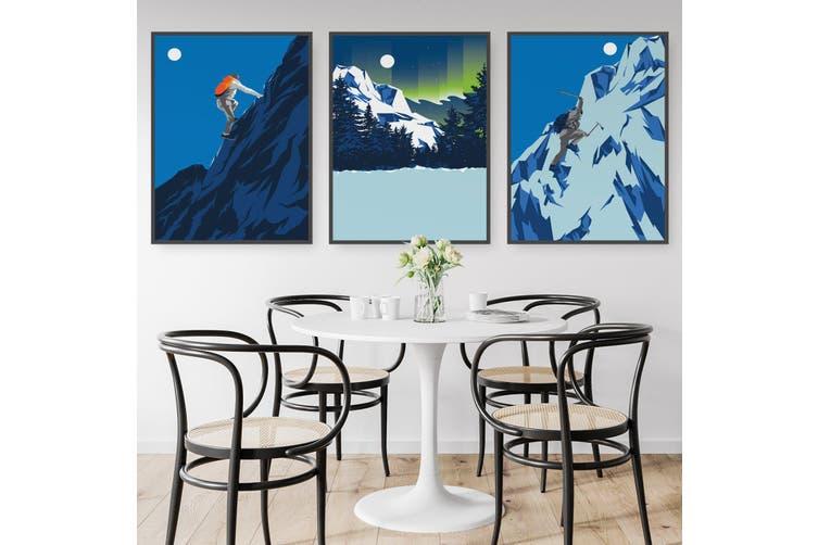 Set of Mountain Climbing Wall Art