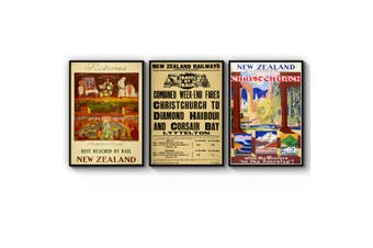 Set of New Zealand Vintage Wall Art