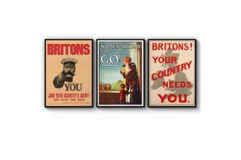 Set of British War Wall Art