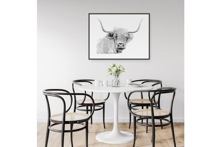 Highland Cow Drawing Wall Art