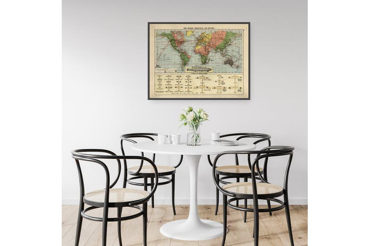 Vintage Air Routes Map Aviation Wall Art