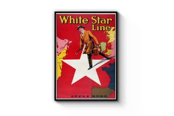White Star Line Vintage Shipping Advert Wall Art