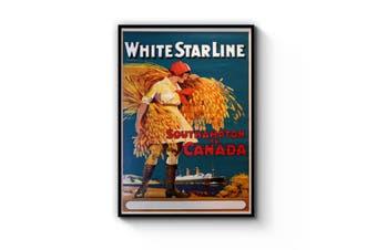White Star Line - Southampton to Canada Wall Art