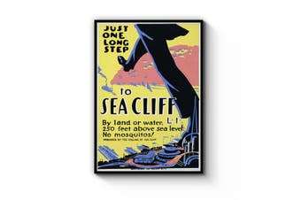 Seacliff, San Francisco Vintage Advert Wall Art