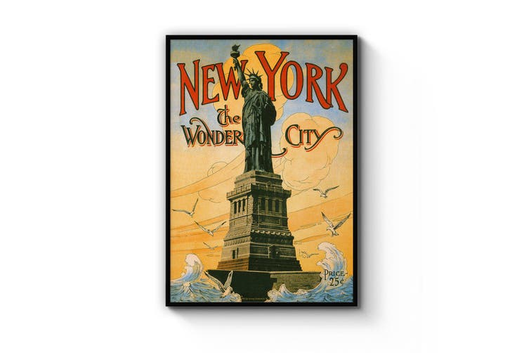 Statue of Liberty, New York Vintage Advert Wall Art