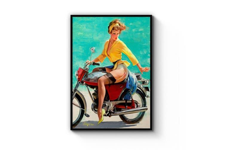 Pin-Up Girl - Vespa Wall Art