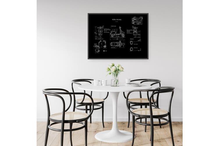Vespa Patent - Black Patent Wall Art