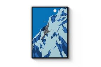 Retro Mountain Climbing Winter Sports Wall Art