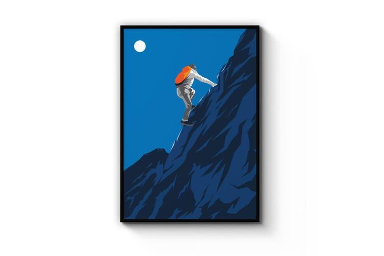 Retro Mountain Climbing Wall Art