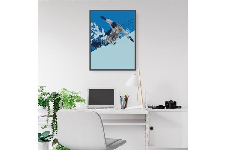 Retro Snowboard Wall Art